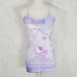 NWT DYI Floral Watercolor Workout Tank Sz M